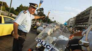 Greek traffic police