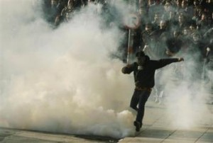 Greek rioter in Athens